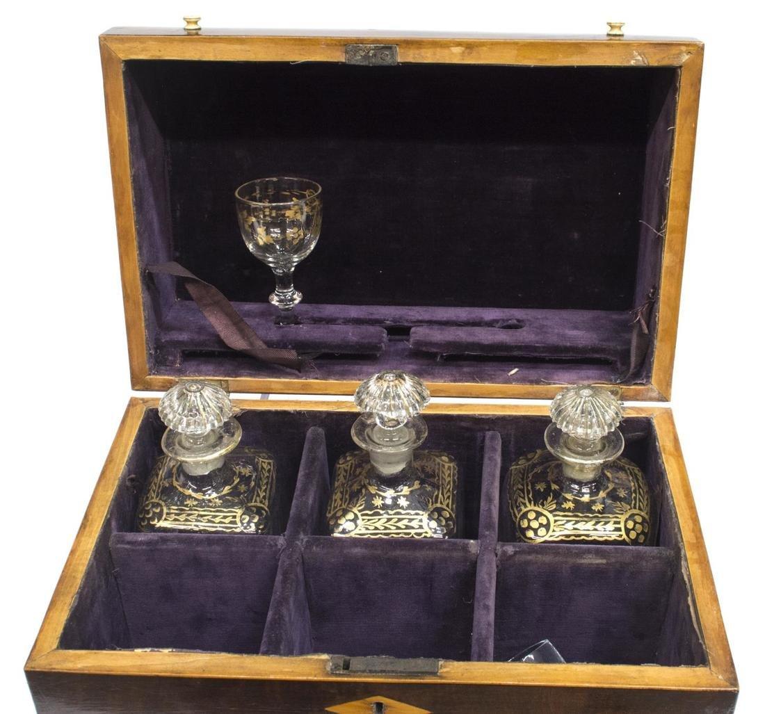 ENGLISH REGENCY PERIOD DRINKS TANTALUS BOX - 3