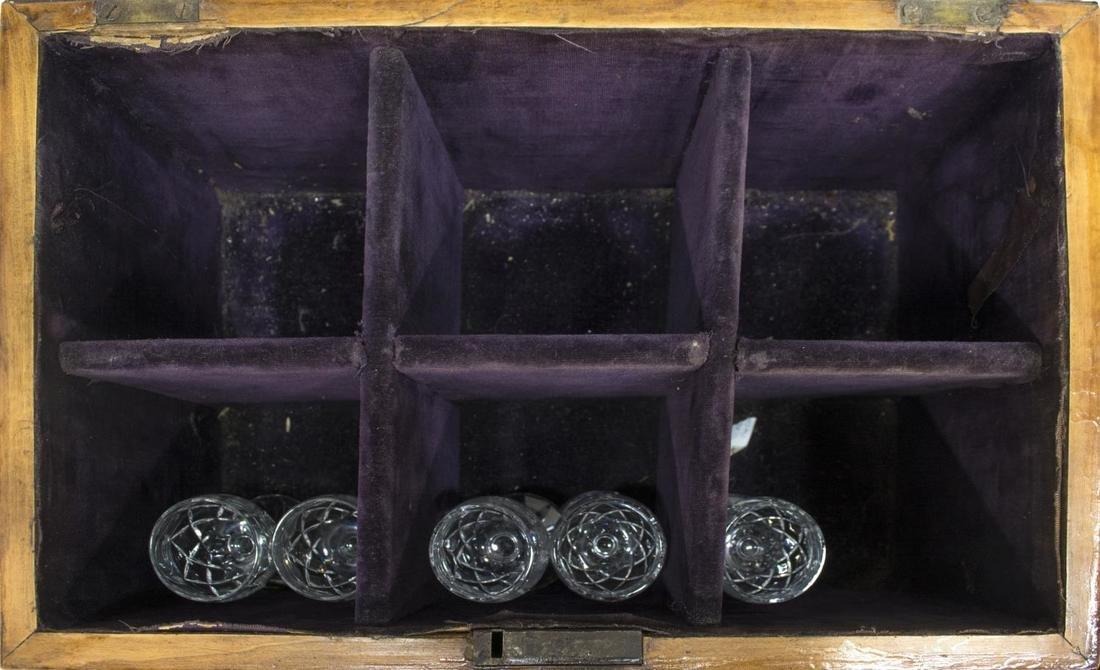 ENGLISH REGENCY PERIOD DRINKS TANTALUS BOX - 4