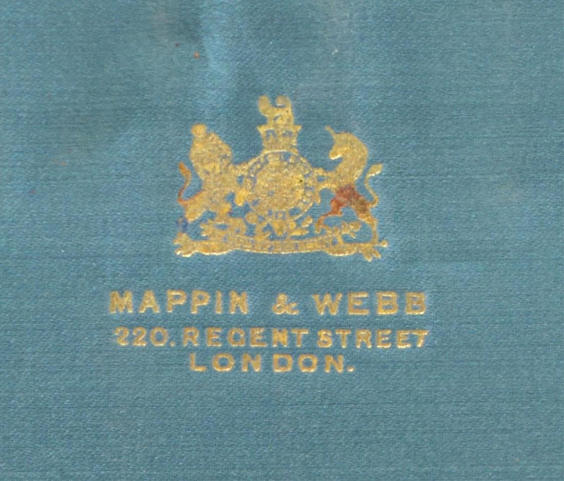 MAPPIN & WEBB CASED MOP & SILVERPLATE FRUIT SET - 7