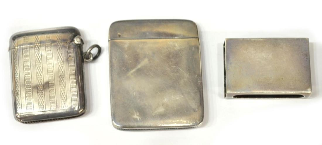 (4) STERLING SILVER MATCH SAFES & A CIGARETTE CASE - 3