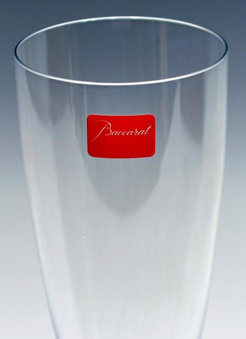 (13) BACCARAT COLORLESS CRYSTAL CHAMPAGNE FLUTES - 3