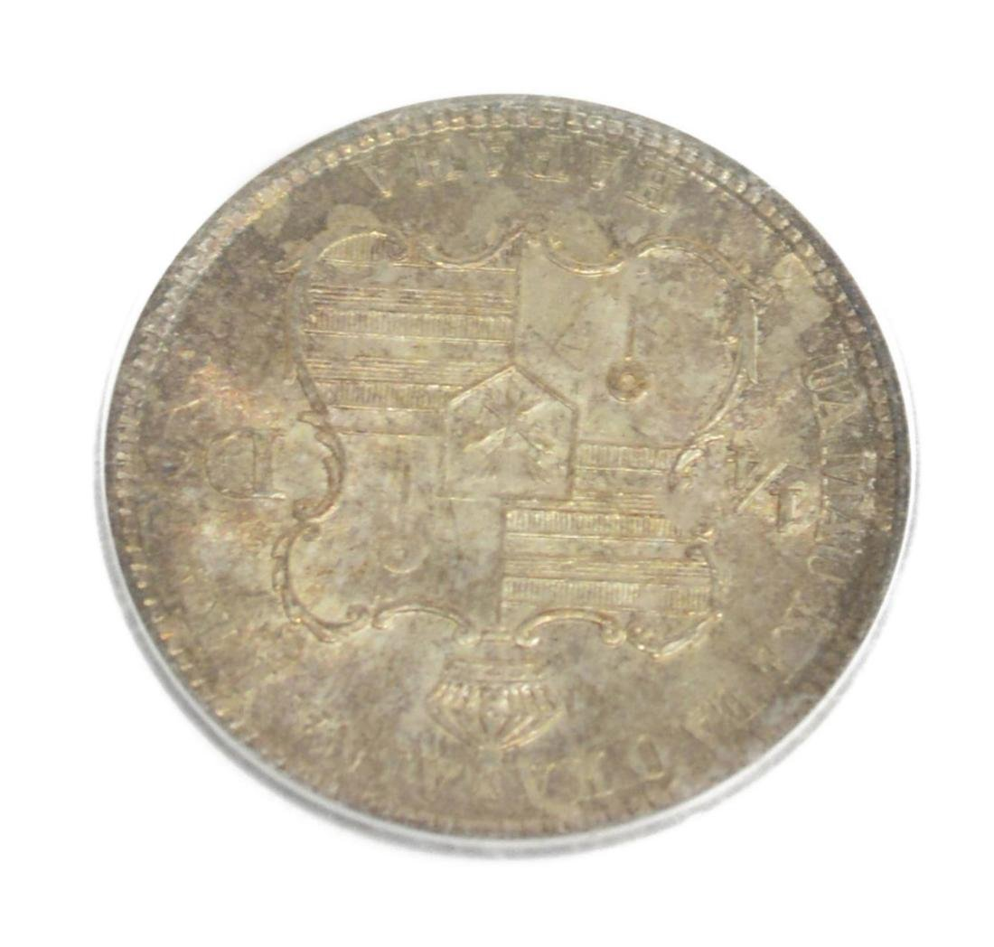 1883 KING OF HAWAII SILVER QUARTER DOLLAR COIN - 3