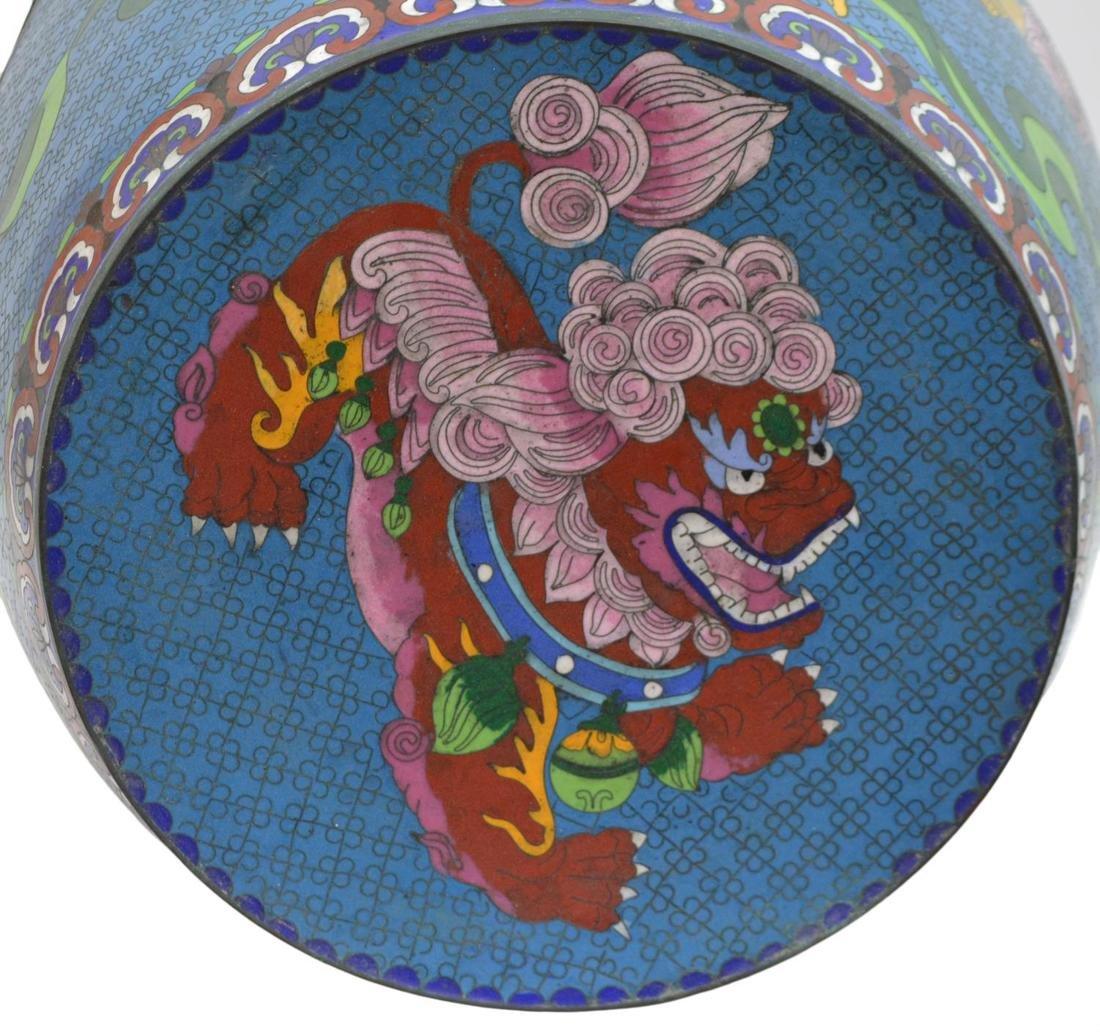 (2) CHINESE ENAMEL CLOISONNE GARDEN STOOLS - 3