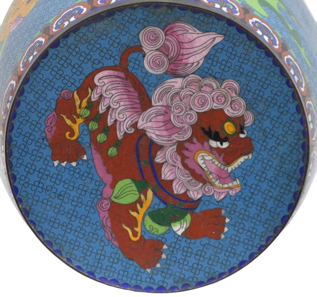 (2) CHINESE ENAMEL CLOISONNE GARDEN STOOLS - 5