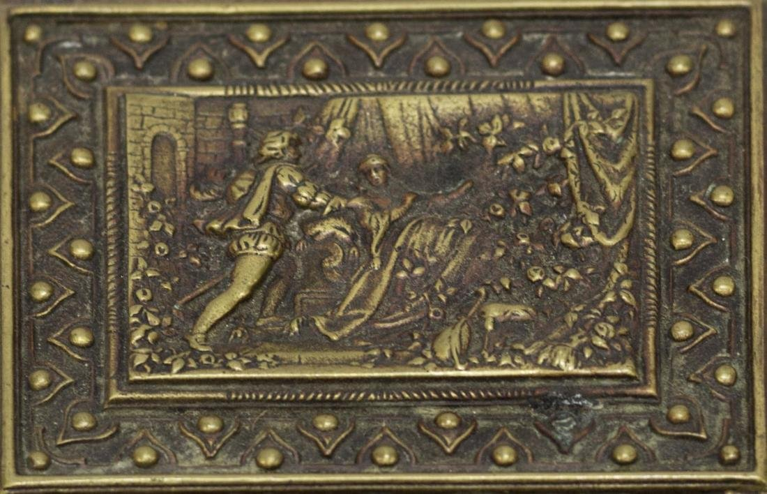 ORNATE BELGIUM RELIEF FIGURAL & GRIFFEN TABLE BOX - 6