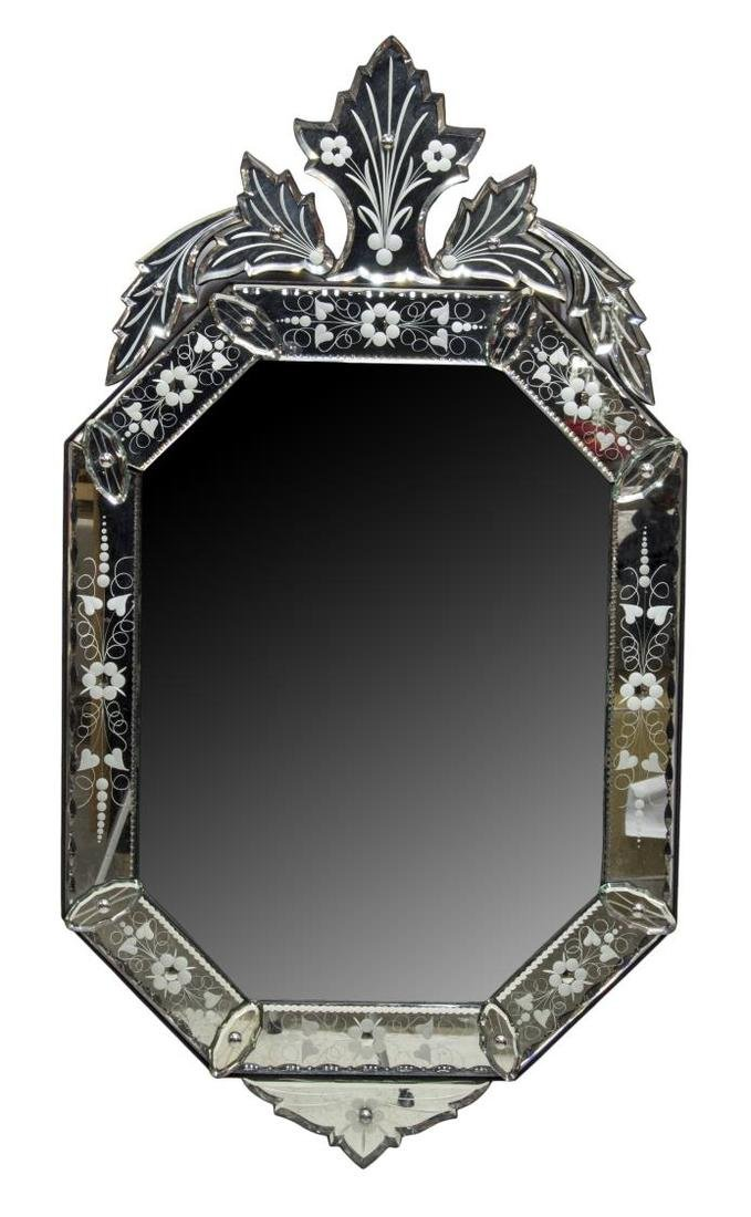VENETIAN STYLE ETCHED GLASS MIRROR