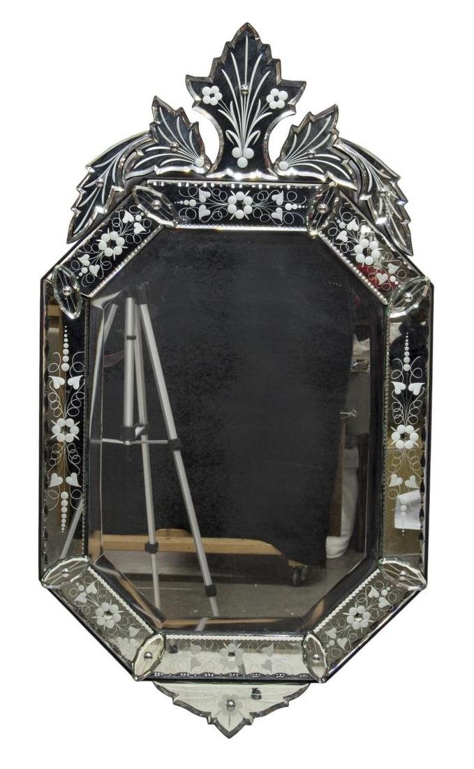 VENETIAN STYLE ETCHED GLASS MIRROR - 2