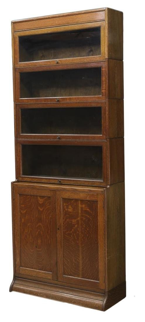 ENGLISH TIGER OAK STACKING LAWYERS BOOKCASE 1920
