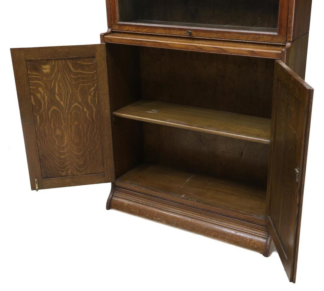 ENGLISH TIGER OAK STACKING LAWYERS BOOKCASE 1920 - 3