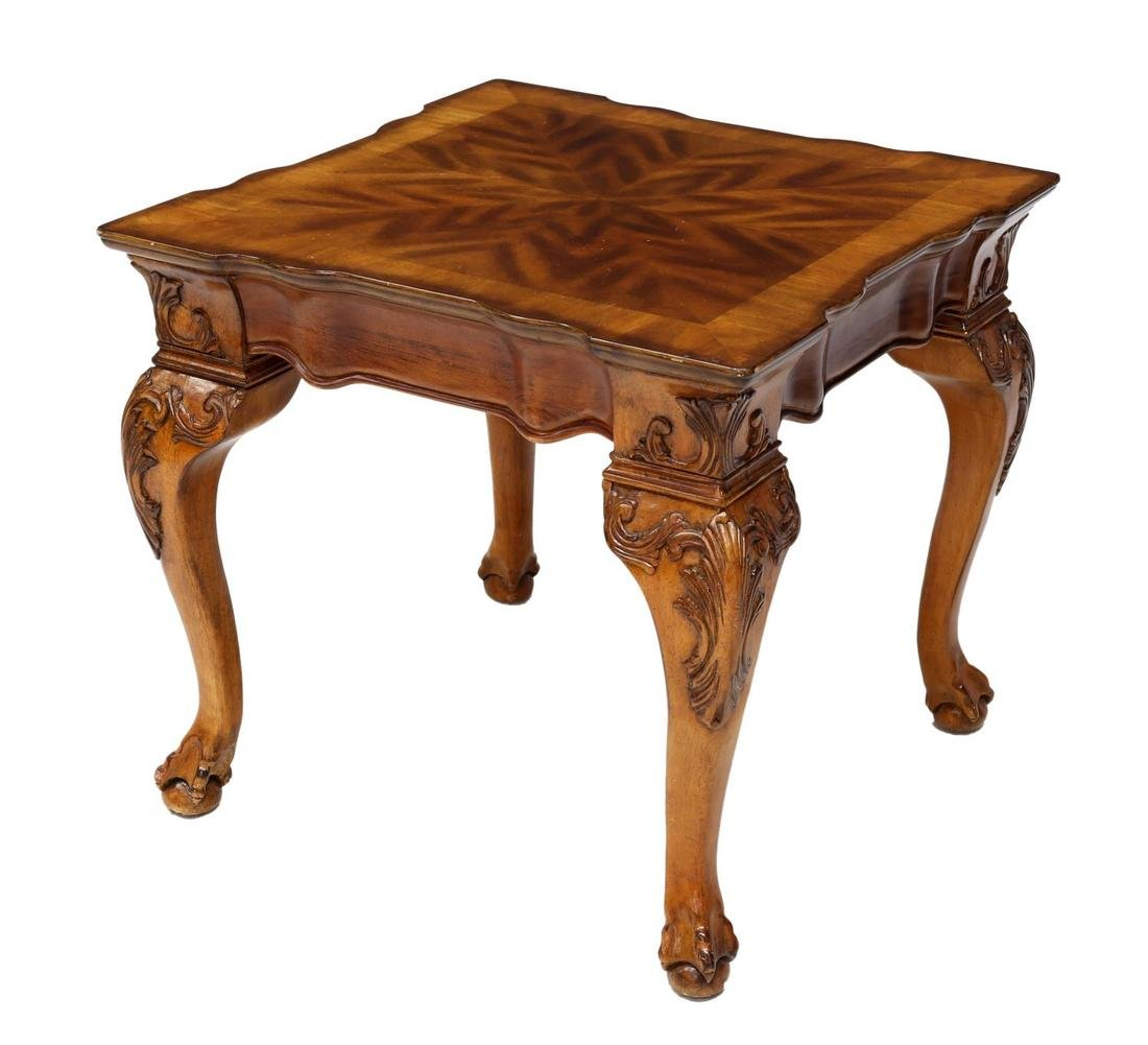 LOUIS XV STYLE CARVED WOODEN OCCASIONAL TABLE