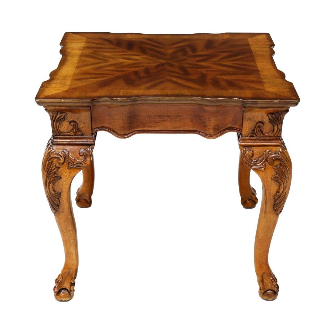 LOUIS XV STYLE CARVED WOODEN OCCASIONAL TABLE - 2