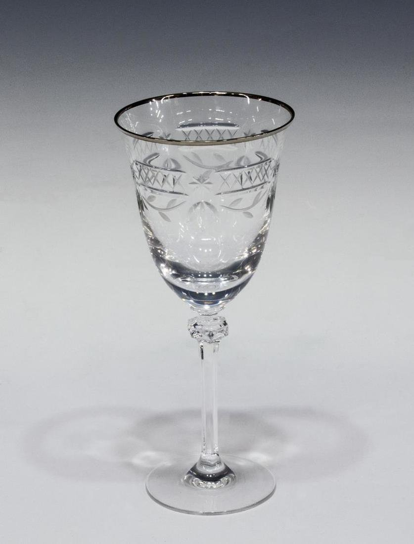 (10) ROYAL DOULTON WELLESLEY-PLATINUM GOBLETS - 2