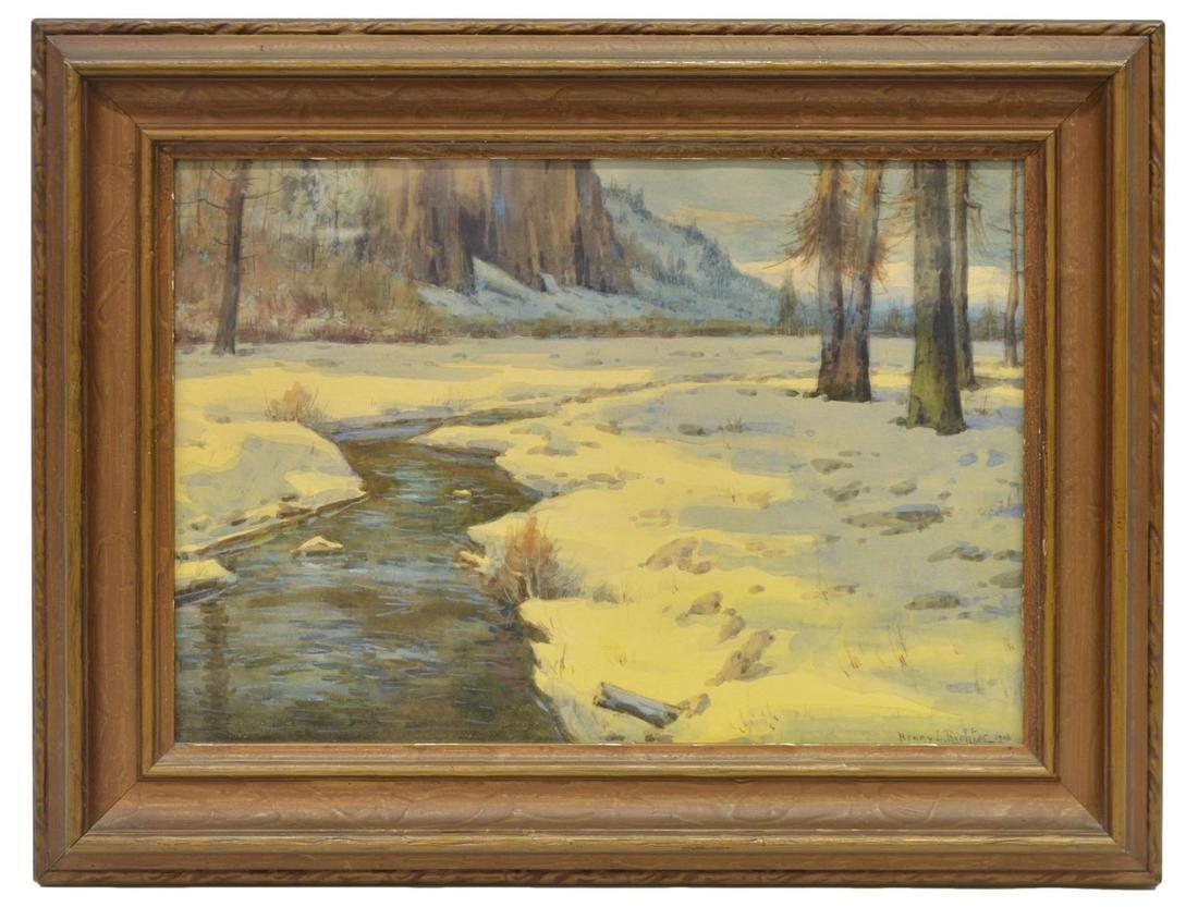 HENRY L. RICHTER (1870-1960), WINTER WATERCOLOR