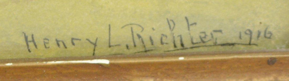 HENRY L. RICHTER (1870-1960), WINTER WATERCOLOR - 3
