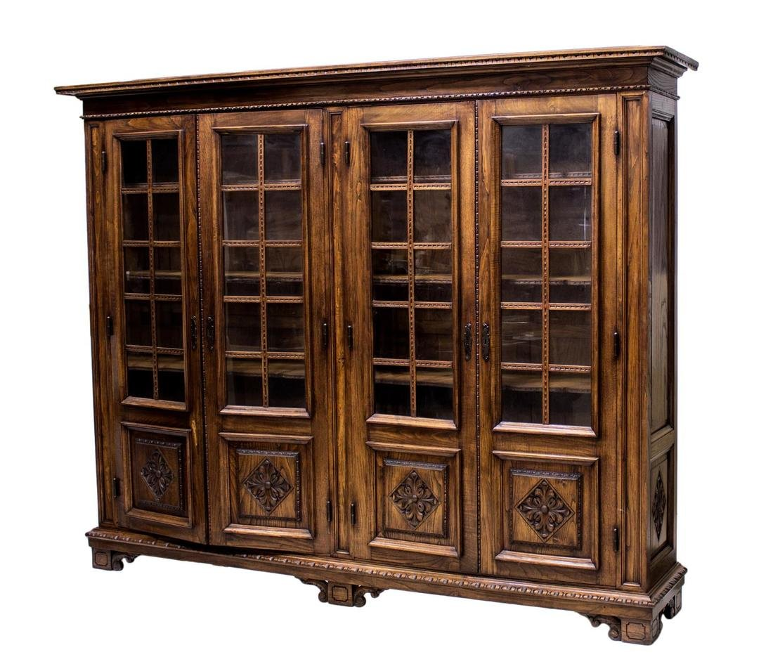 FRENCH FOUR DOOR LIBRARY BOOKCASE