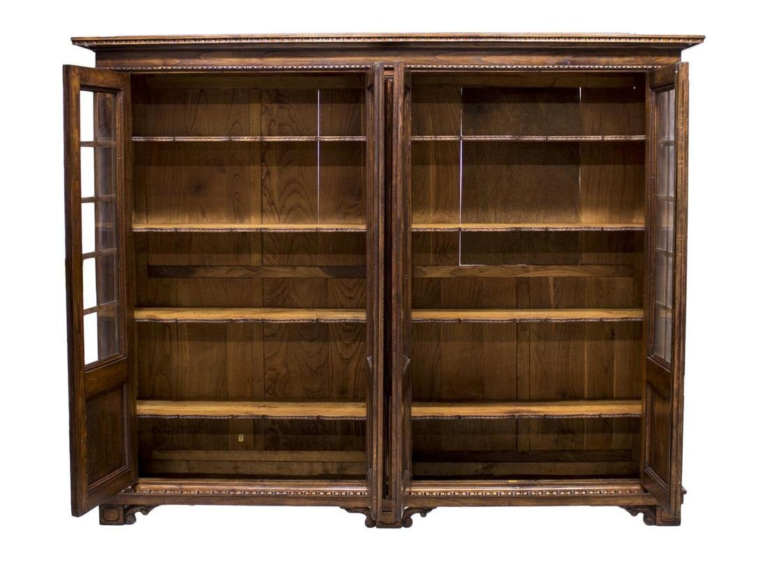 FRENCH FOUR DOOR LIBRARY BOOKCASE - 3