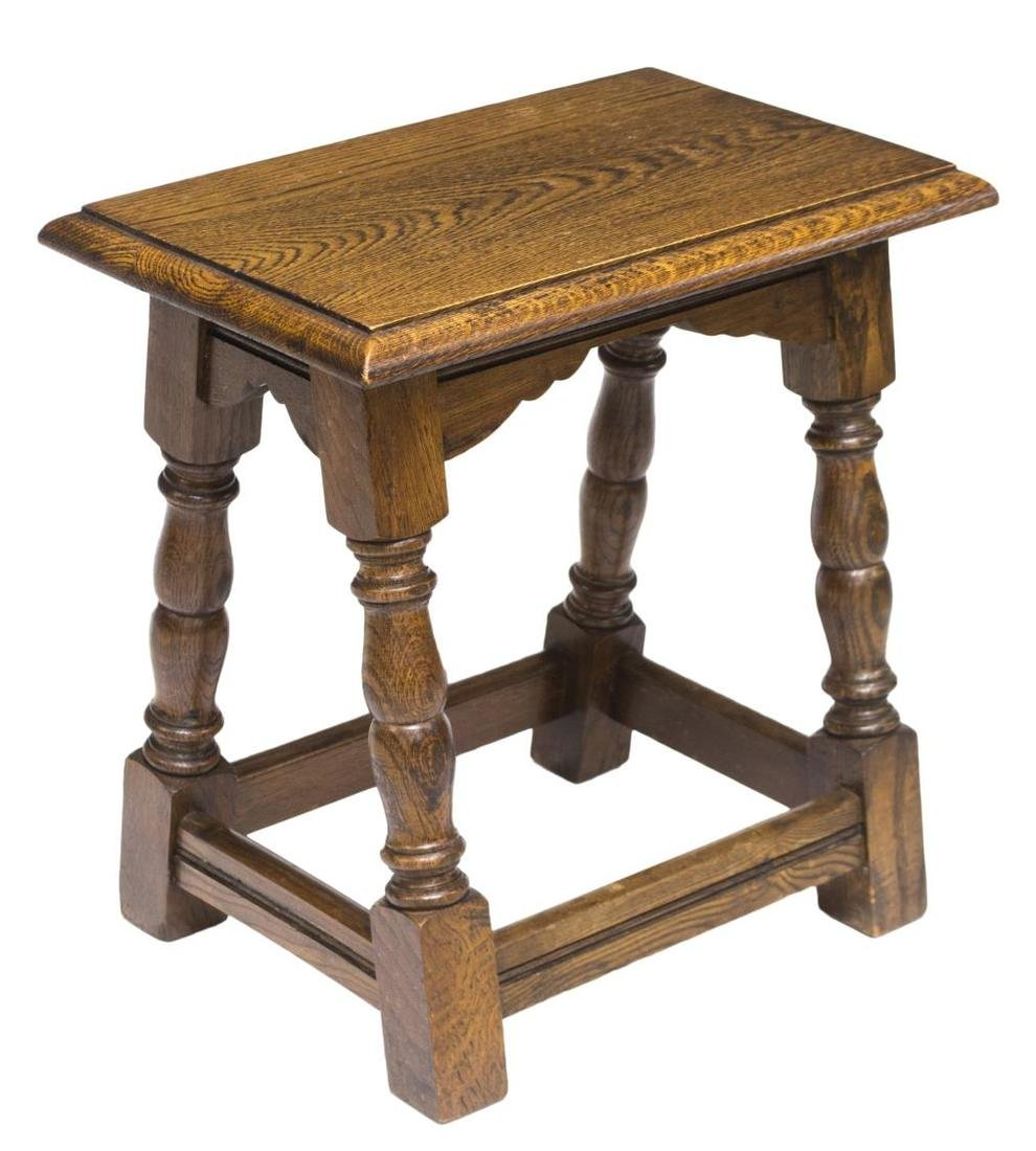 OAK 17TH C STYLE CREDENCE STOOL