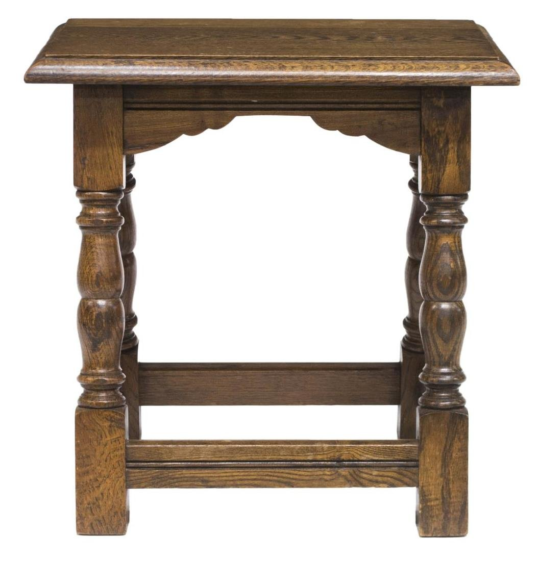 OAK 17TH C STYLE CREDENCE STOOL - 2