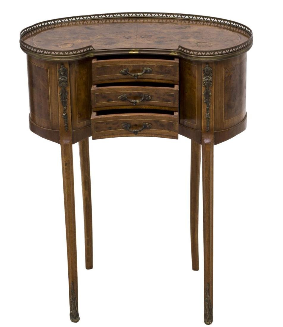 FRENCH THREE DRAWER SIDE TABLE - 2