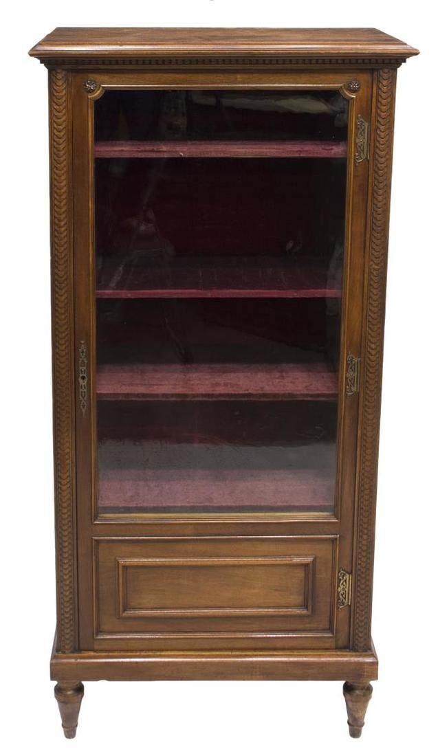 FRENCH WALNUT CASED VITRINE