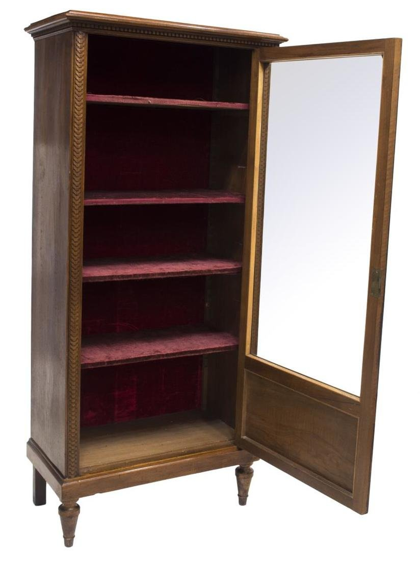 FRENCH WALNUT CASED VITRINE - 2