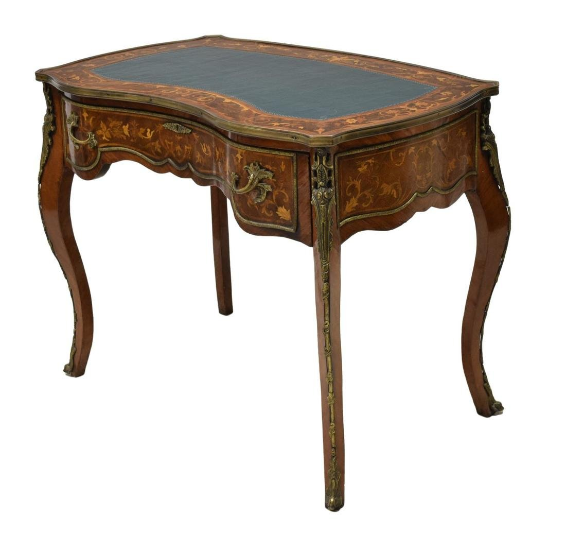 FRENCH LOUIS XV STYLE MARQUETRY WRITING TABLE - 2