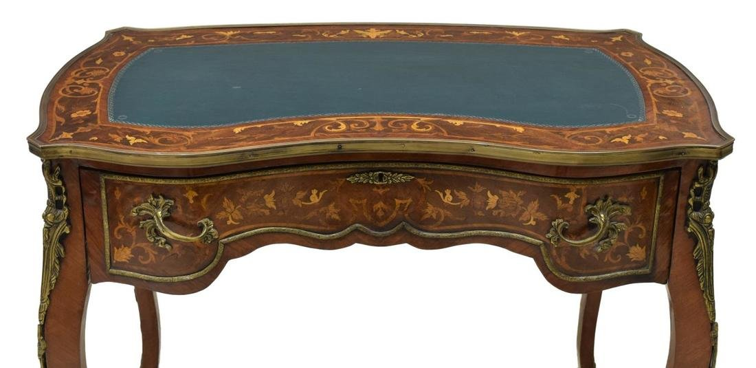 FRENCH LOUIS XV STYLE MARQUETRY WRITING TABLE - 3