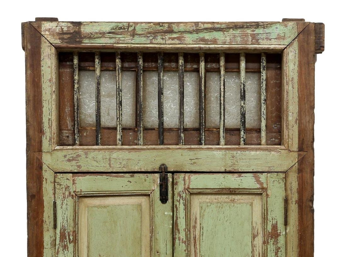 TEAKWOOD IRON & GLASS TWO DOOR WINDOW - 2