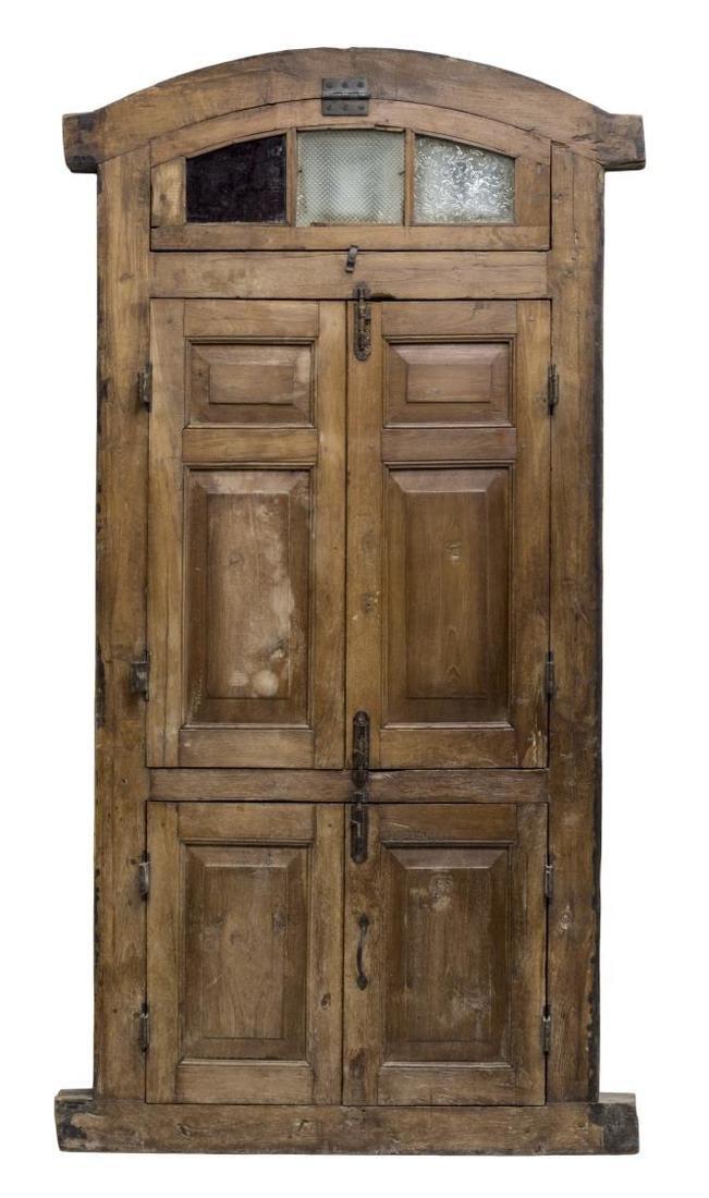 TEAKWOOD & IRON TWO DOOR WINDOW - 2