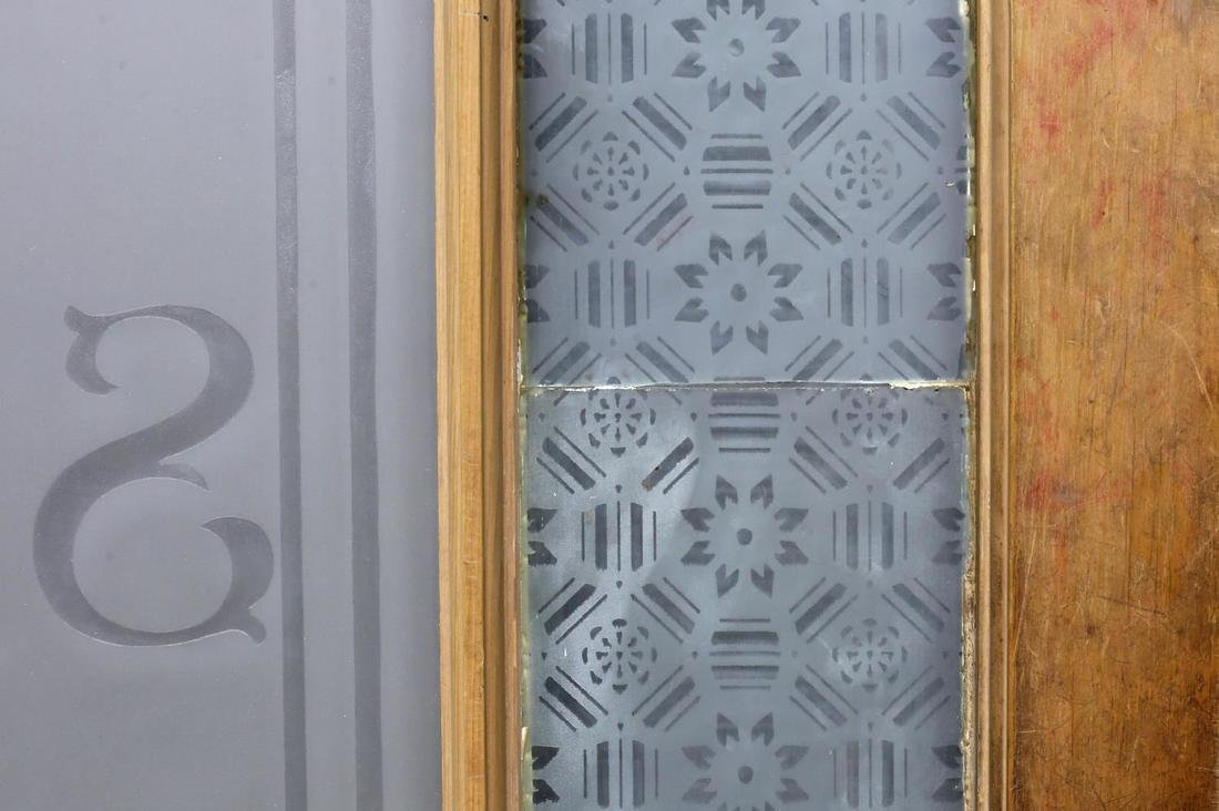ARCHITECTURAL ETCHED & COLORED GLASS PINE DOOR - 5