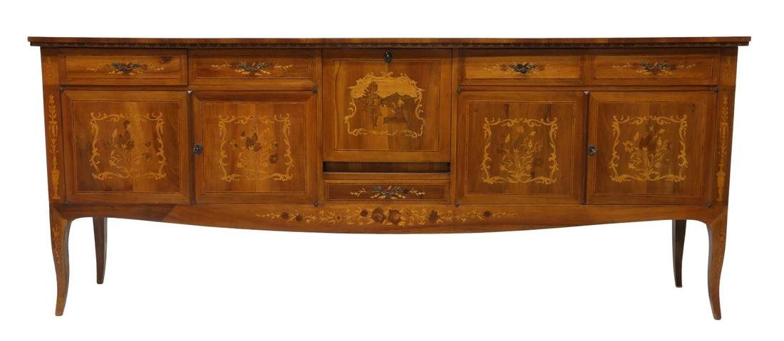ITALIAN MARQUETRY INLAID SIDEBOARD, 20TH CENTURY - 2