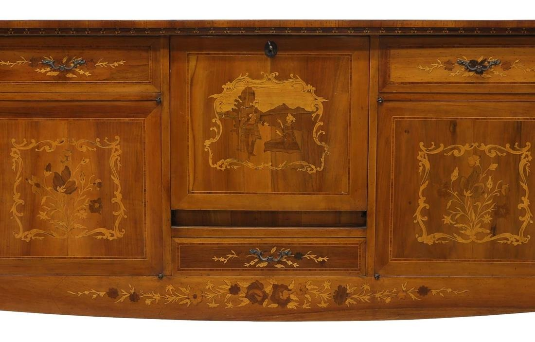 ITALIAN MARQUETRY INLAID SIDEBOARD, 20TH CENTURY - 3