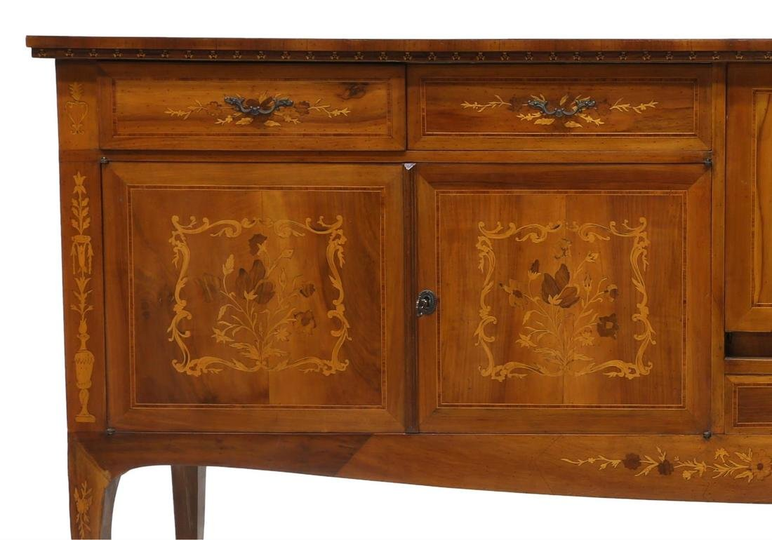 ITALIAN MARQUETRY INLAID SIDEBOARD, 20TH CENTURY - 5