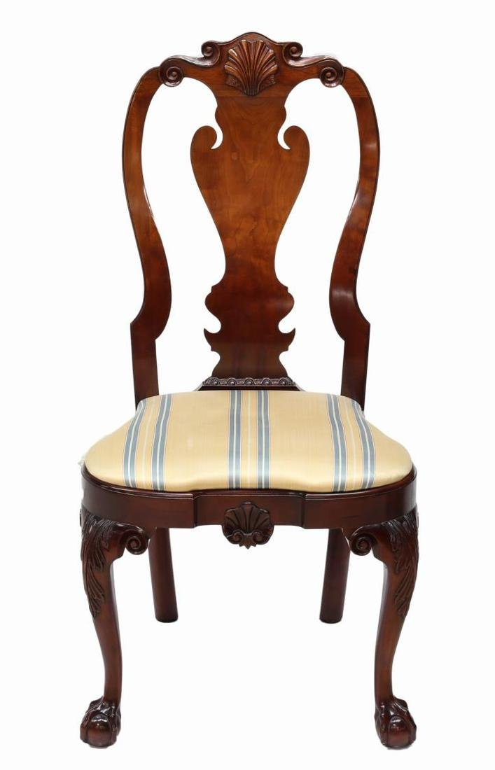 (4) KINDEL WINTERTHUR QUEEN ANNE SIDE CHAIRS