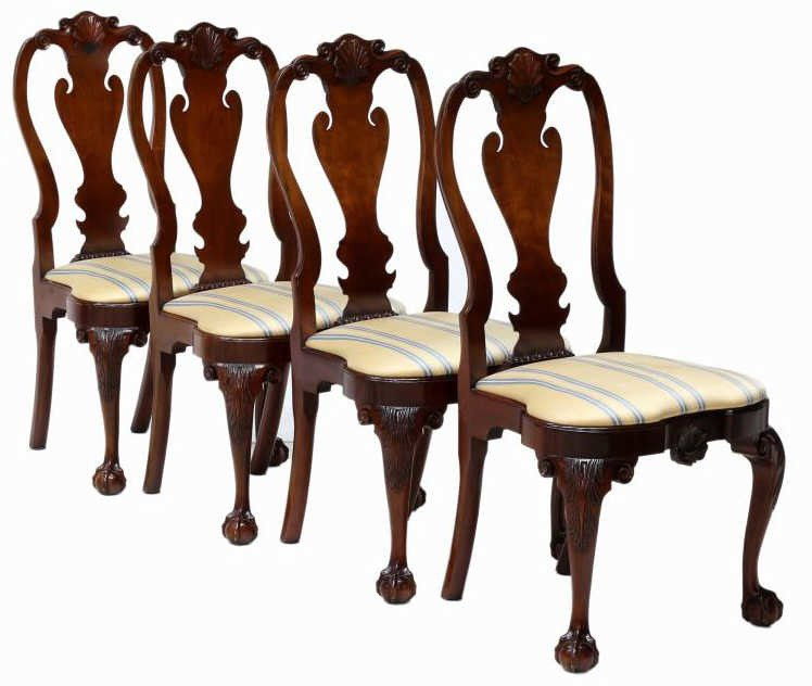 (4) KINDEL WINTERTHUR QUEEN ANNE SIDE CHAIRS - 2