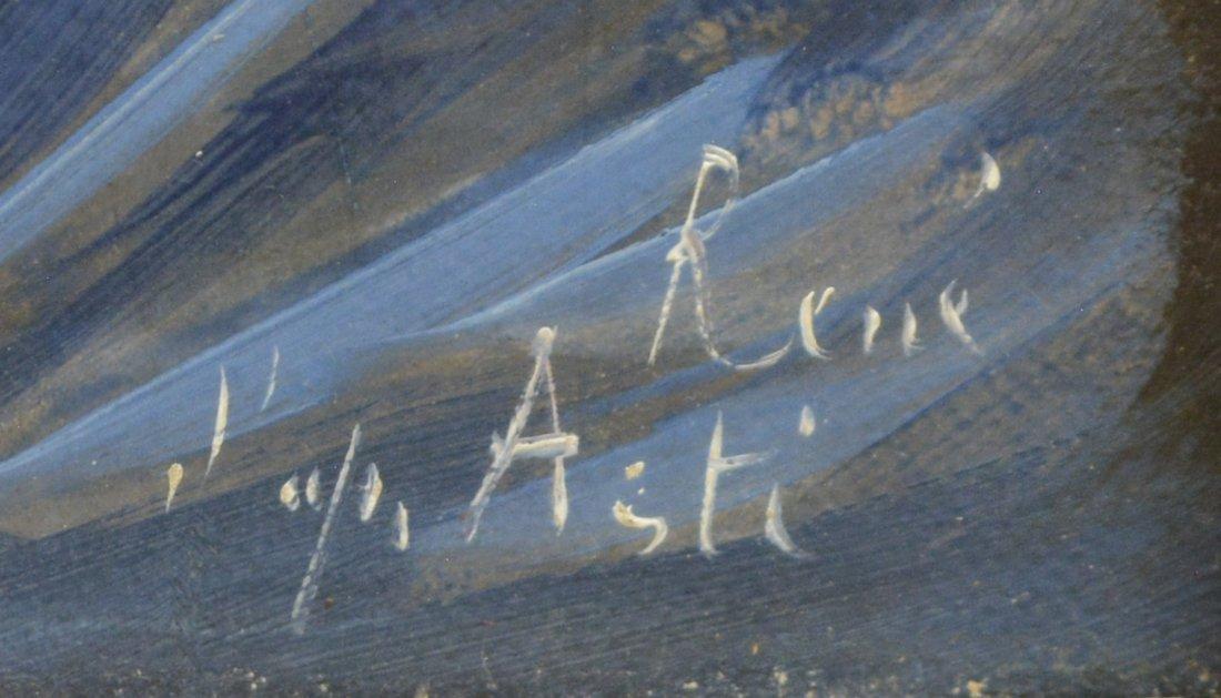 ANGELO ASTI (FRANCE/OHIO 1847-1903) OIL PAINTING - 3