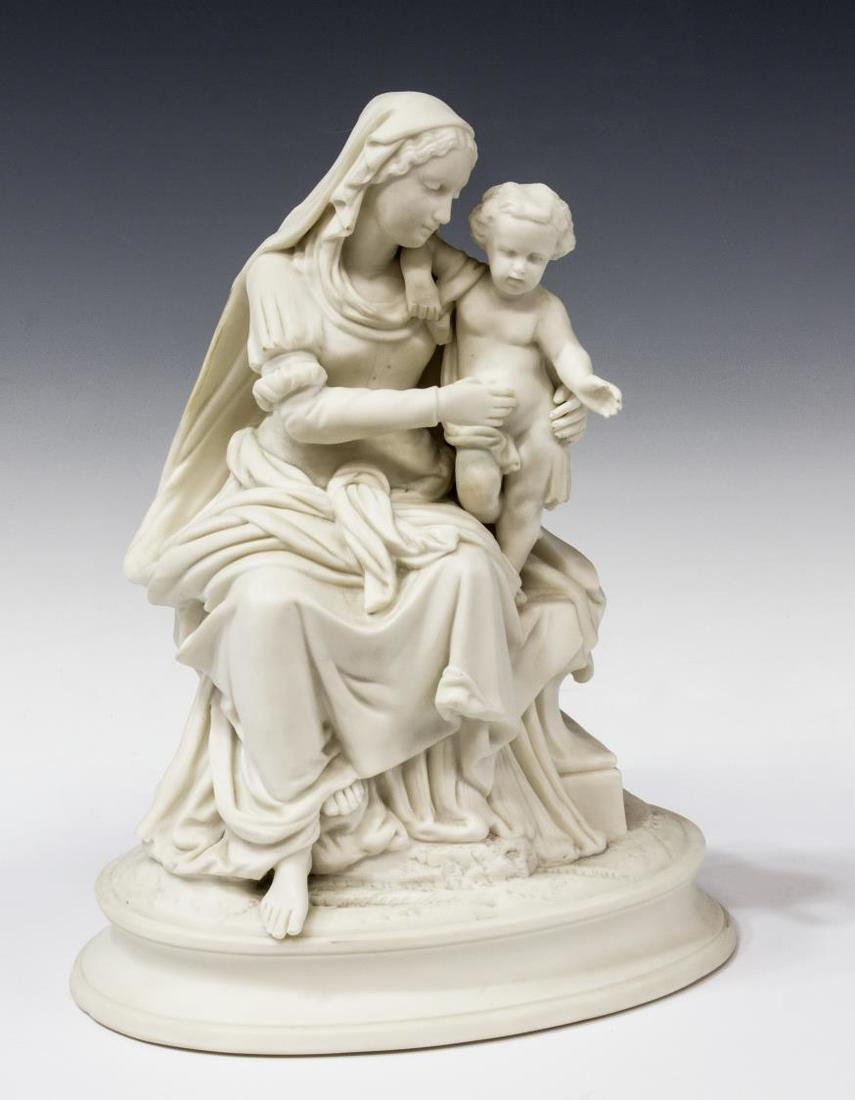 PARIAN SCULPTURE, THE VIRGIN AND THE CHRIST CHILD