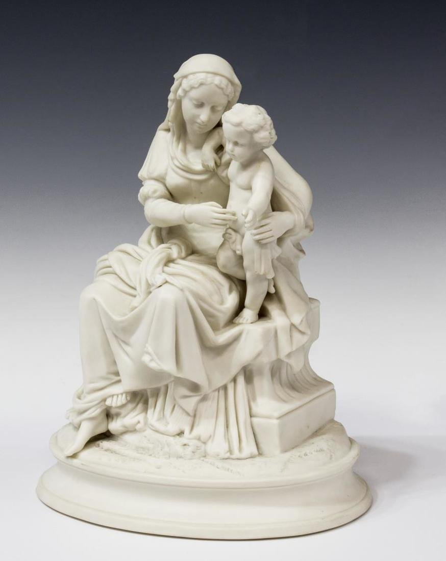 PARIAN SCULPTURE, THE VIRGIN AND THE CHRIST CHILD - 2