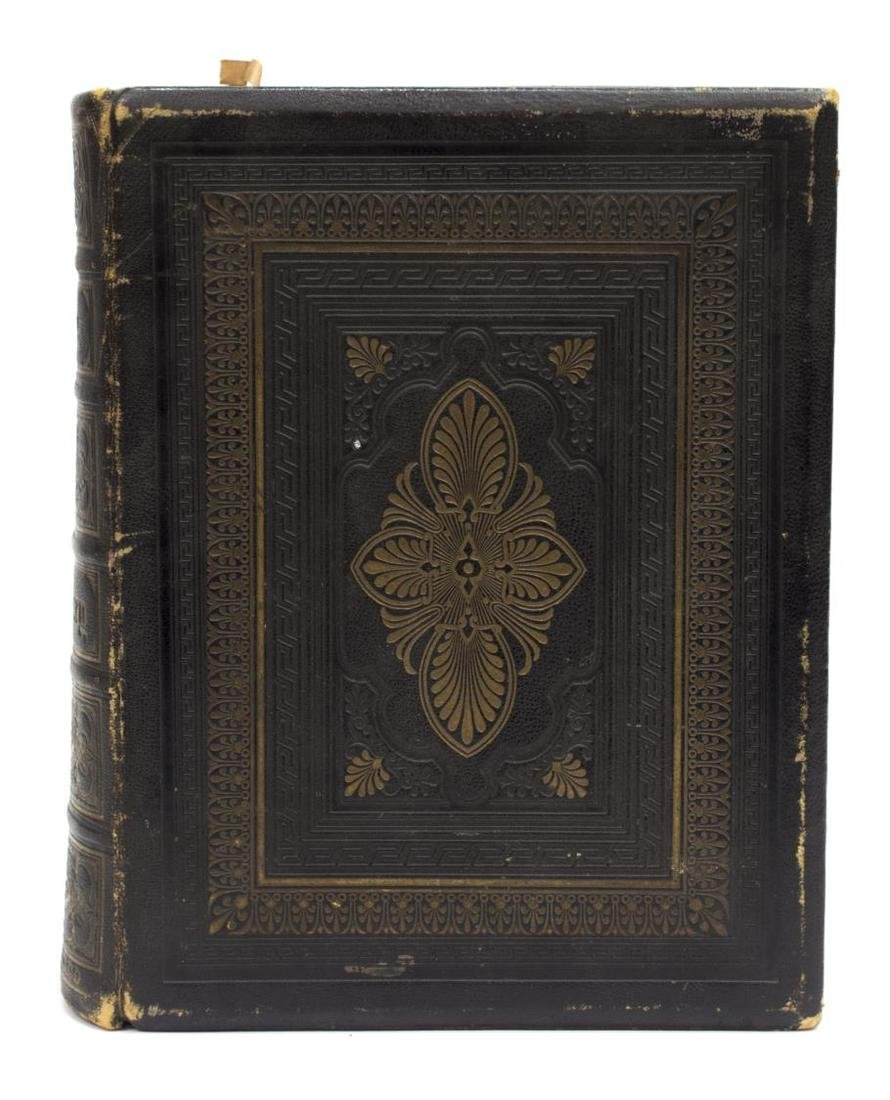 ANTIQUE ENGLISH LEATHER BOUND FAMILY BIBLE, C.1875 - 3