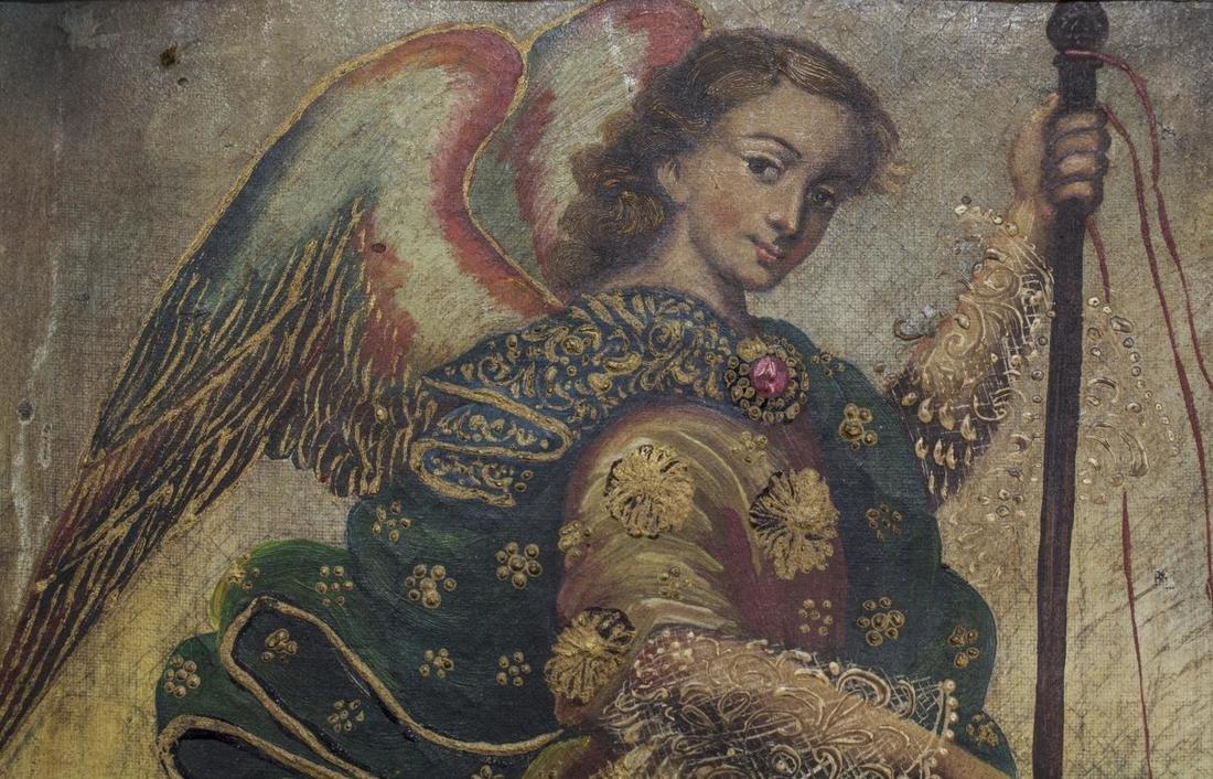 ANTIQUE RELIGIOUS PAINTING, SAN RAFAEL, MEXICO - 2