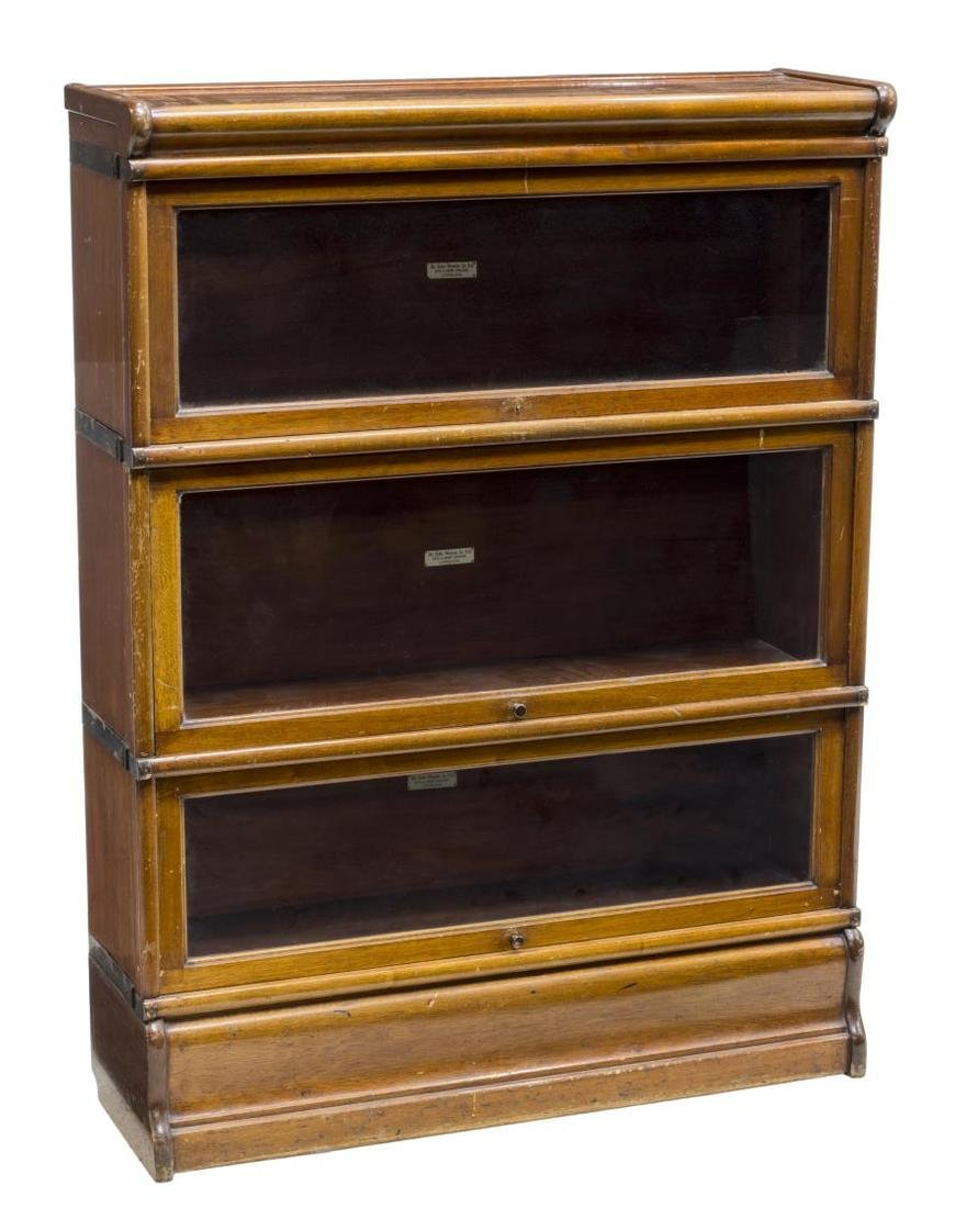 GLOBE WERNICKE MAHOGANY LAWYERS STACKING BOOKCASE