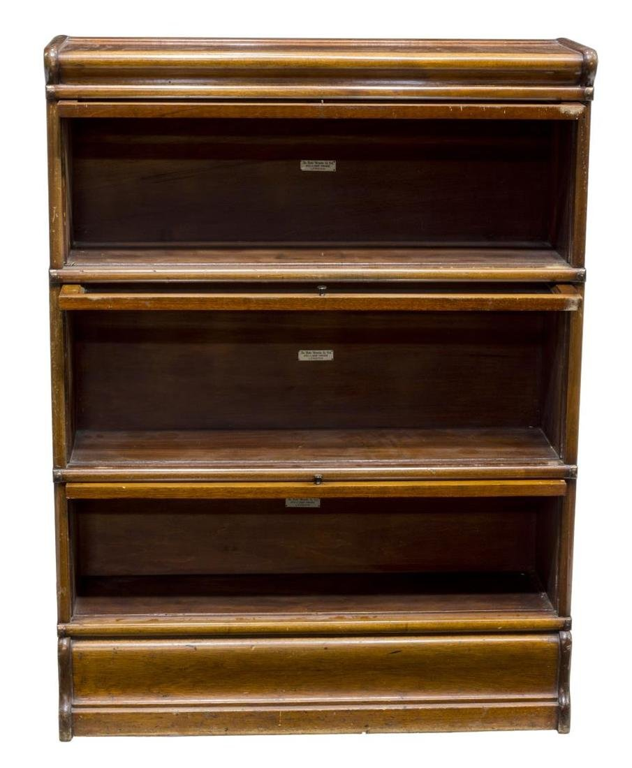 GLOBE WERNICKE MAHOGANY LAWYERS STACKING BOOKCASE - 3