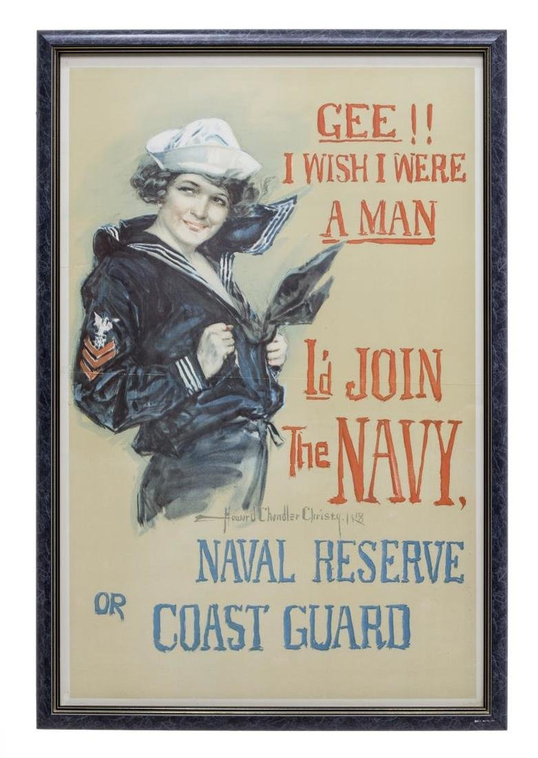 WWI NAVY RECRUIT POSTER, HOWARD CHANDLER CHRISTY