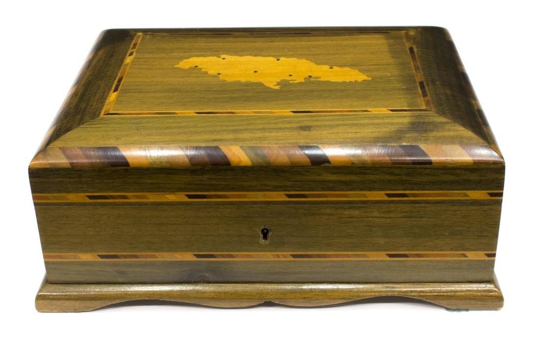 ROYAL JAMAICA OLIVE WOOD CIGAR HUMIDOR