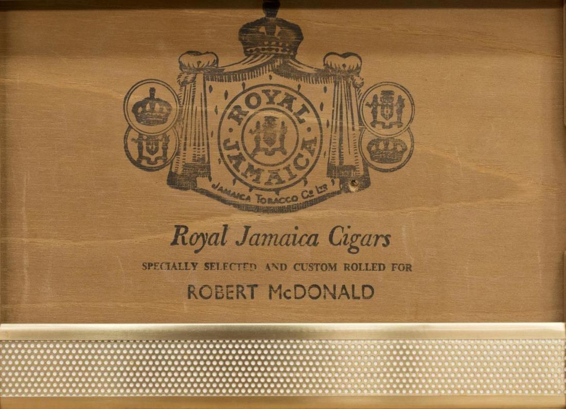 ROYAL JAMAICA OLIVE WOOD CIGAR HUMIDOR - 3