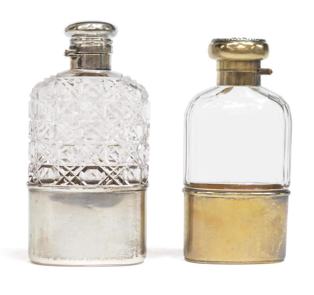 (5) TRAVELING DRINKWARE, STERLING FLASKS, GLASSES - 4