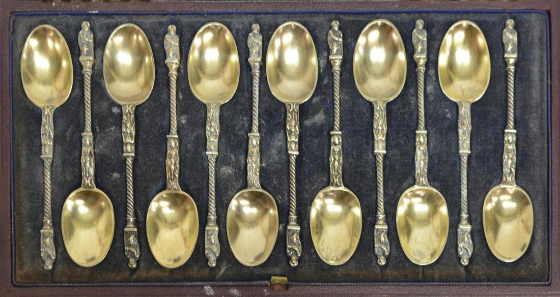 (30) LONDON STERLING APOSTLE SPOONS & SILVER LOT - 5