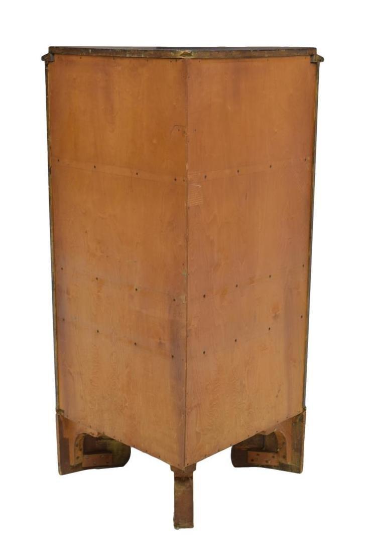 DANISH BIEDERMEIER MAHOGANY CORNER CUPBOARD - 3