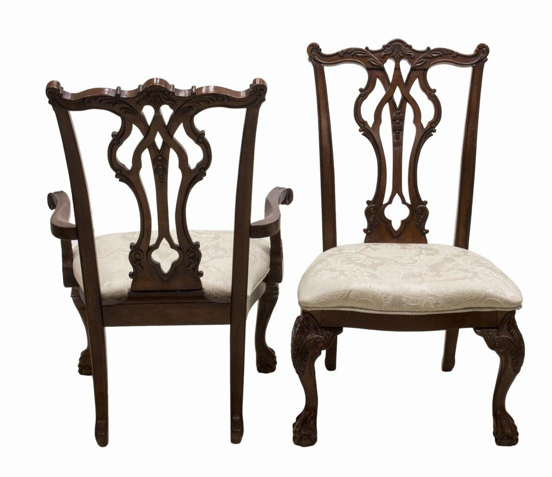 (8) CHIPPENDALE STYLE MAHOGANY DINING CHAIRS - 2