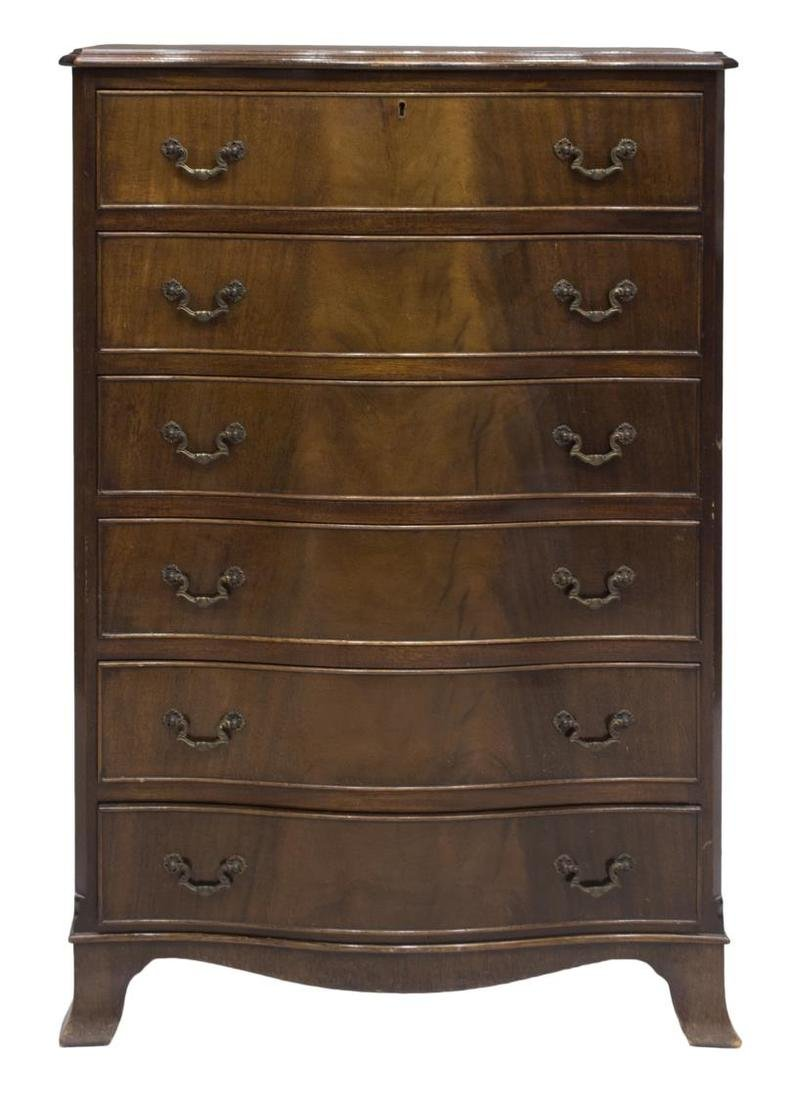 ENGLISH MAHOGANY SIX DRAWER CHEST